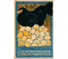 I am a brave war hen - French WW1 poster