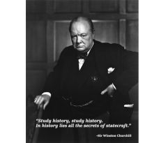 study history. Winston Churchill - quote poster