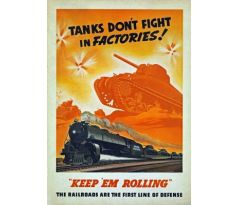 Tanks dont fight in factories! Keep em rolling